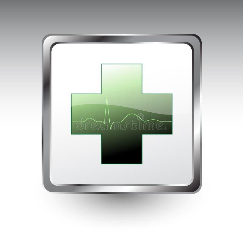 Icono cardiológico ilustración del vector