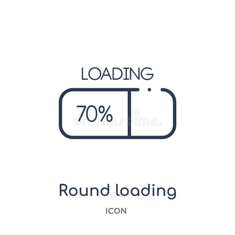 icono cargado del progreso de la ronda de la colección del esquema de la interfaz de usuario Línea fina icono cargado redondo del libre illustration