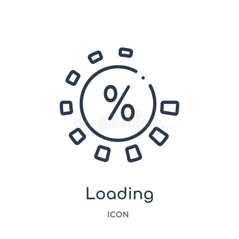 Icono cargado linear de la colección del esquema de Ui Línea fina icono cargado aislado en el fondo blanco Ejemplo de moda cargad ilustración del vector