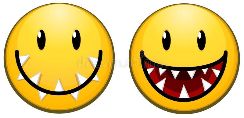 Icono carnívoro de la cara de la sonrisa libre illustration