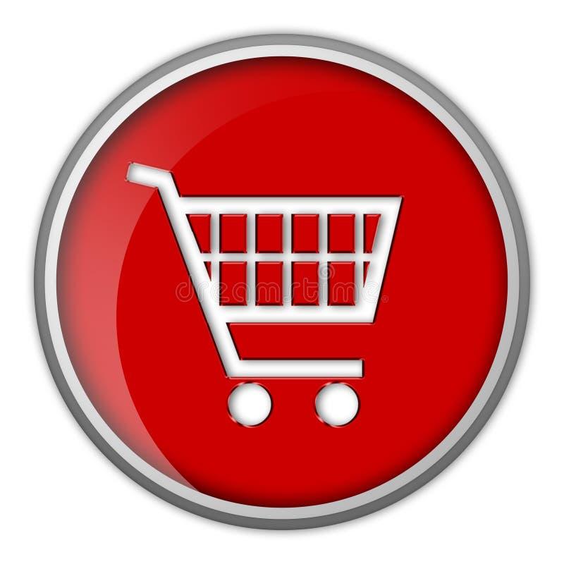 Icono, carro de compras, botón