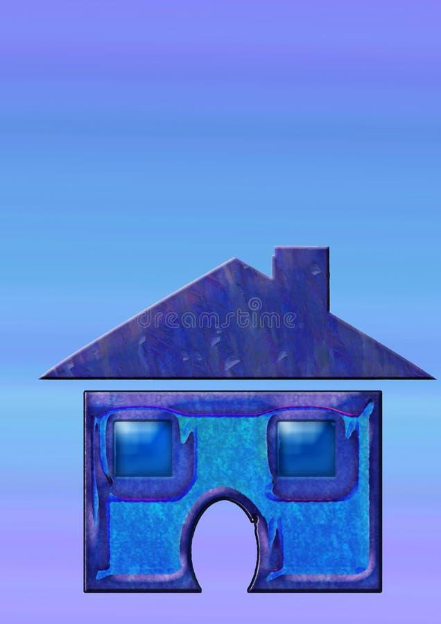 Icono casero ilustración del vector