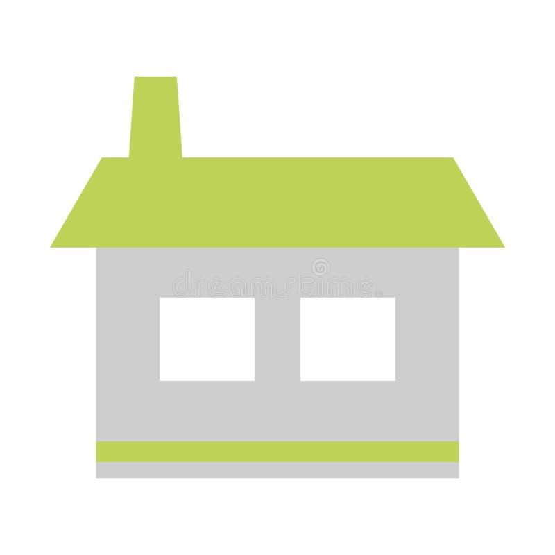 Icono casero de la casa ilustración del vector