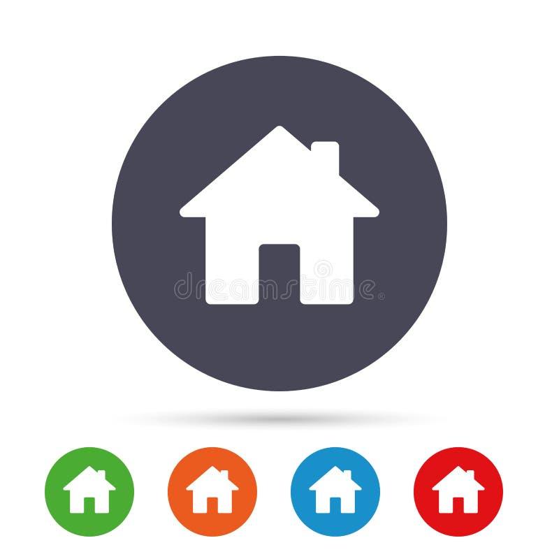 Icono casero de la muestra Botón de la página principal nearsighted stock de ilustración