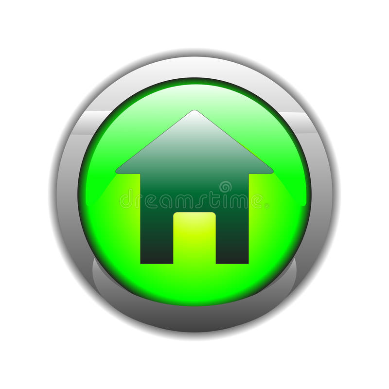 Icono casero de la muestra (vector) stock de ilustración