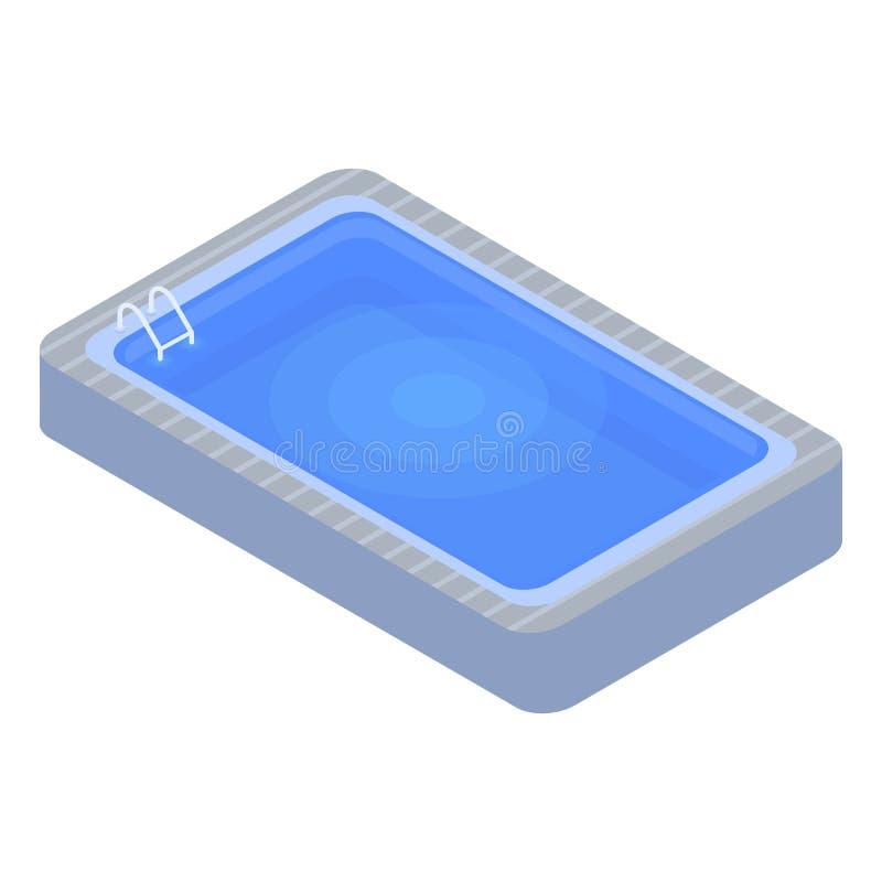 Icono casero de la piscina, estilo isométrico libre illustration
