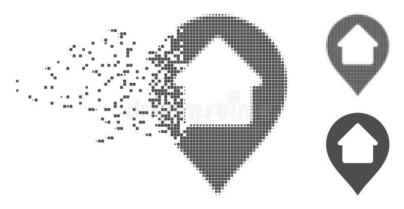 Icono casero de semitono dañado del marcador del pixel libre illustration