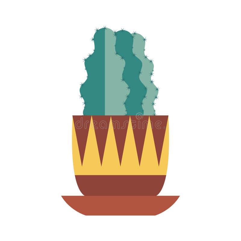Icono casero del cactus ilustración del vector
