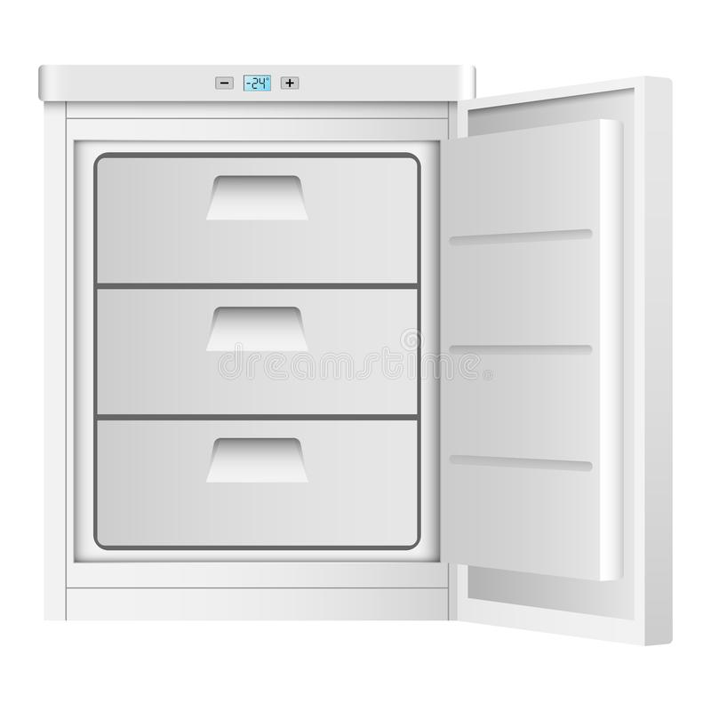 Icono casero del congelador, estilo realista stock de ilustración