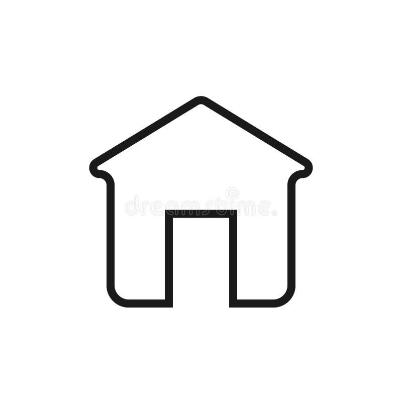 Icono casero del esquema Icono eps10 del vector de la casa hogar en estilo plano de moda aislado en fondo símbolo casero de la pá ilustración del vector