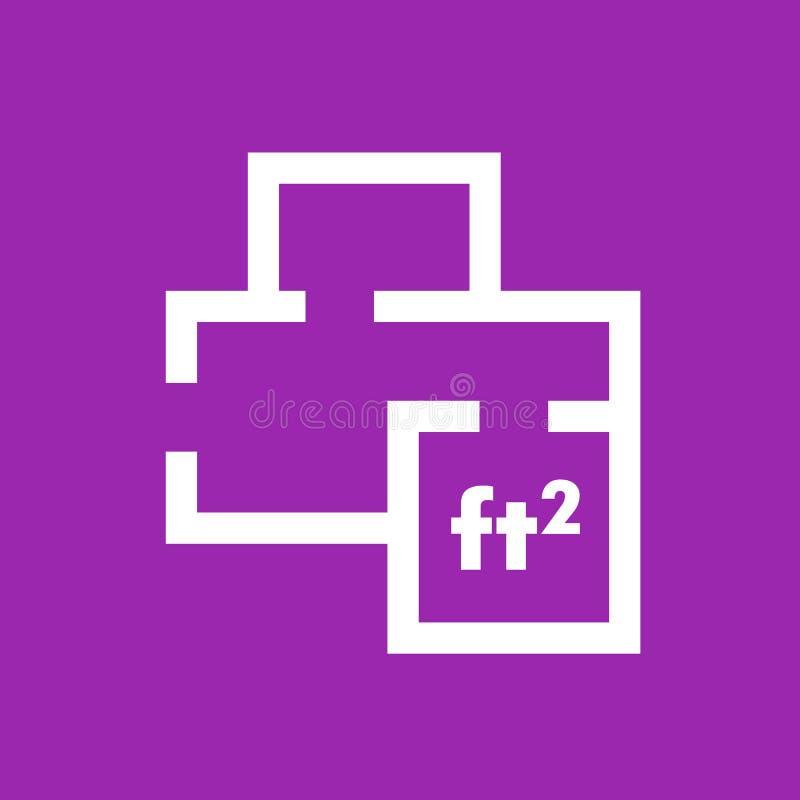 Icono casero del plan, muestra del vector de la disposición del sitio libre illustration