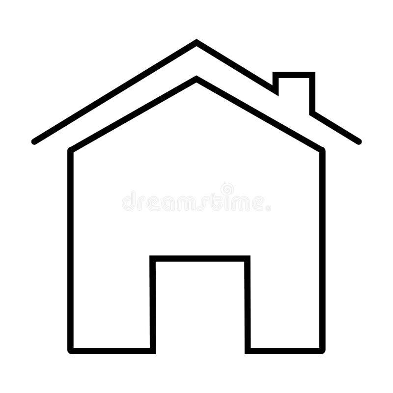 Icono casero en el fondo blanco Estilo plano icono casero para su diseño del sitio web, logotipo, app, UI símbolo del hogar del e ilustración del vector