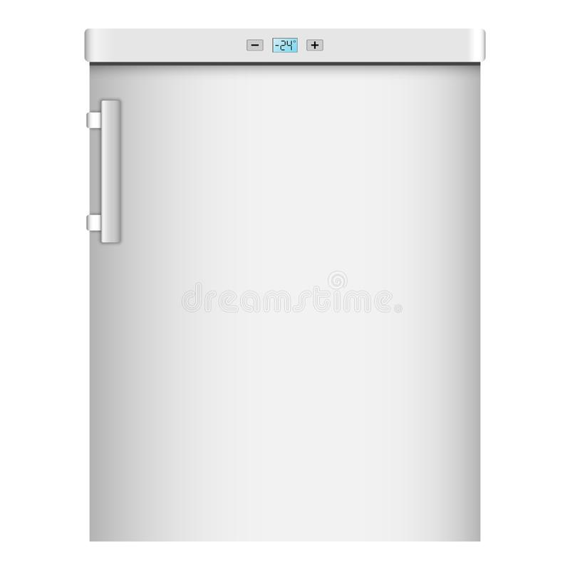 Icono casero moderno del refrigerador, estilo realista ilustración del vector