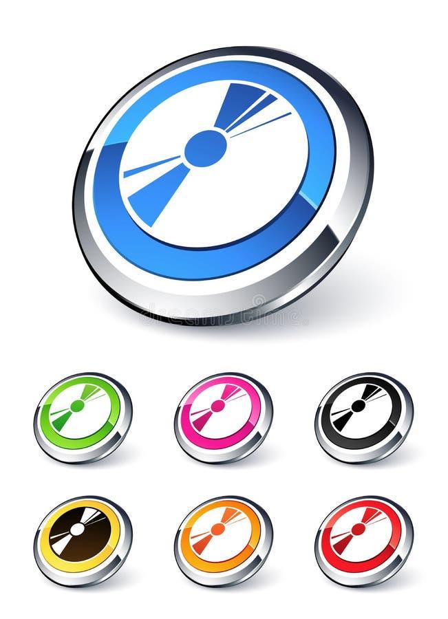 Icono CD ilustración del vector