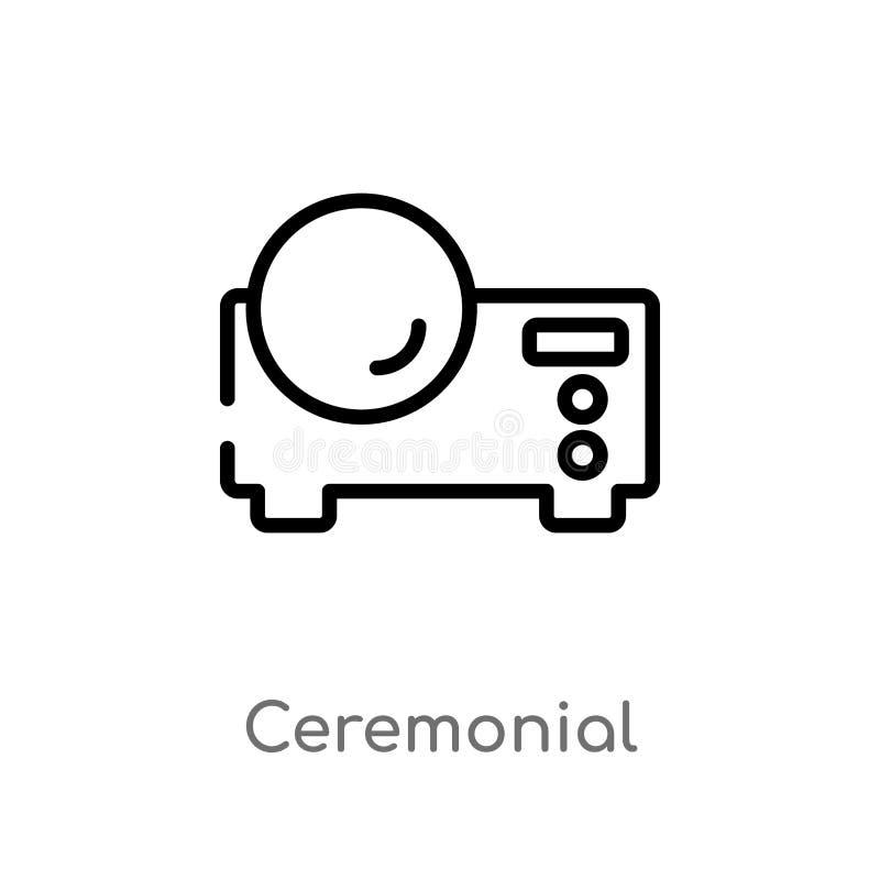 icono ceremonial del vector del esquema l?nea simple negra aislada ejemplo del elemento del concepto de los muebles y del hogar e libre illustration