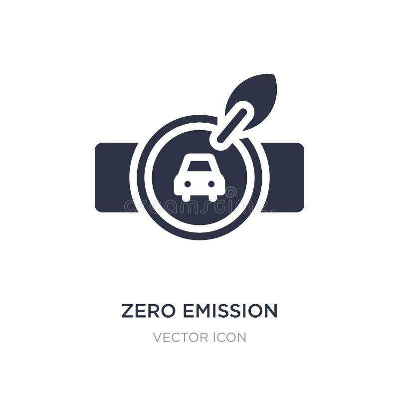 icono cero de la insignia de la emisión en el fondo blanco Ejemplo simple del elemento del concepto del transporte ilustración del vector