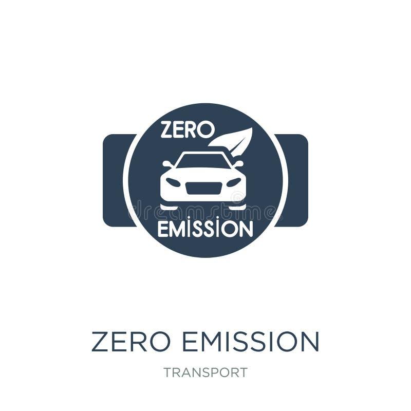 icono cero de la insignia de la emisión en estilo de moda del diseño icono cero de la insignia de la emisión aislado en el fondo  ilustración del vector