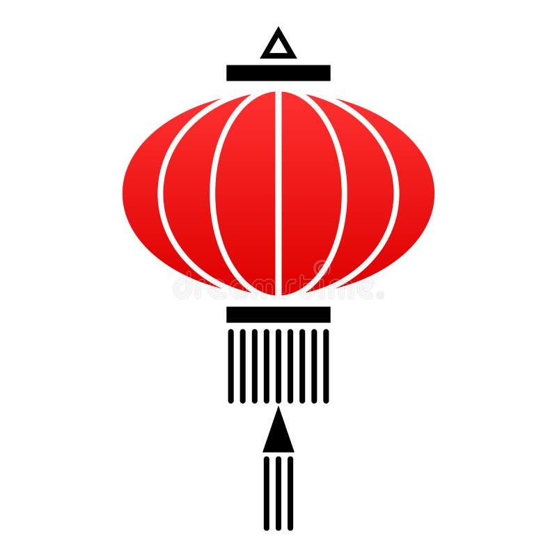 Icono chino de la linterna libre illustration