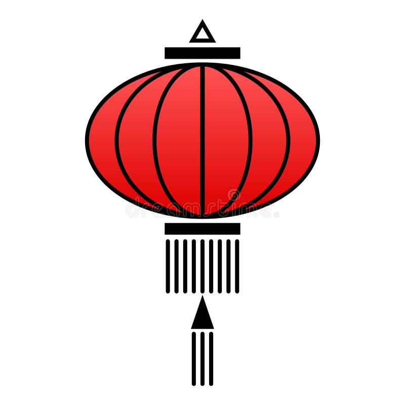 Icono chino de la linterna stock de ilustración