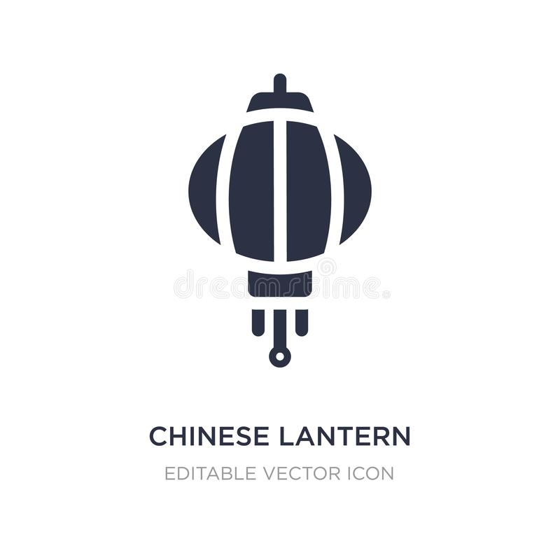 Icono chino de la linterna en el fondo blanco Ejemplo simple del elemento del concepto de las culturas libre illustration