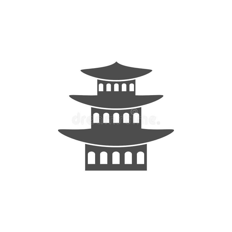 Icono chino de la torre Elementos del icono chino de la cultura Icono superior del diseño gráfico de la calidad Muestras del bebé stock de ilustración