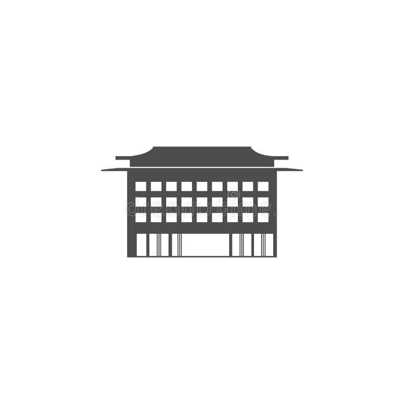 Icono chino del edificio Elementos del icono chino de la cultura Icono superior del diseño gráfico de la calidad Muestras del beb libre illustration