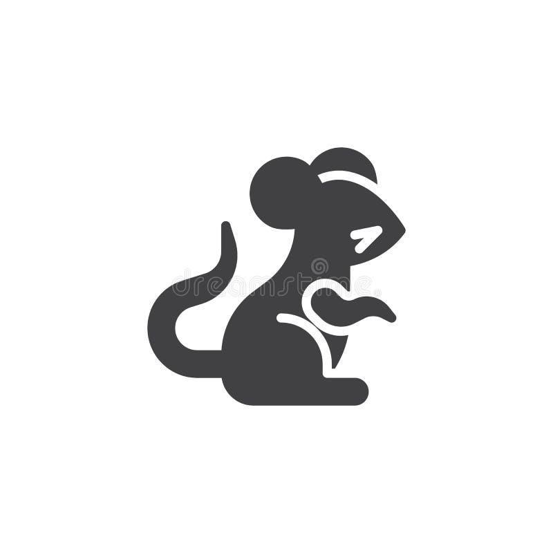 Icono chino del vector de la rata del zodiaco stock de ilustración