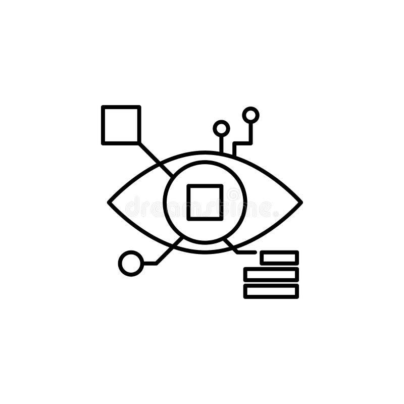 Icono cibernético del esquema de la robótica Las muestras y los símbolos se pueden utilizar para la web, logotipo, app móvil, UI, stock de ilustración