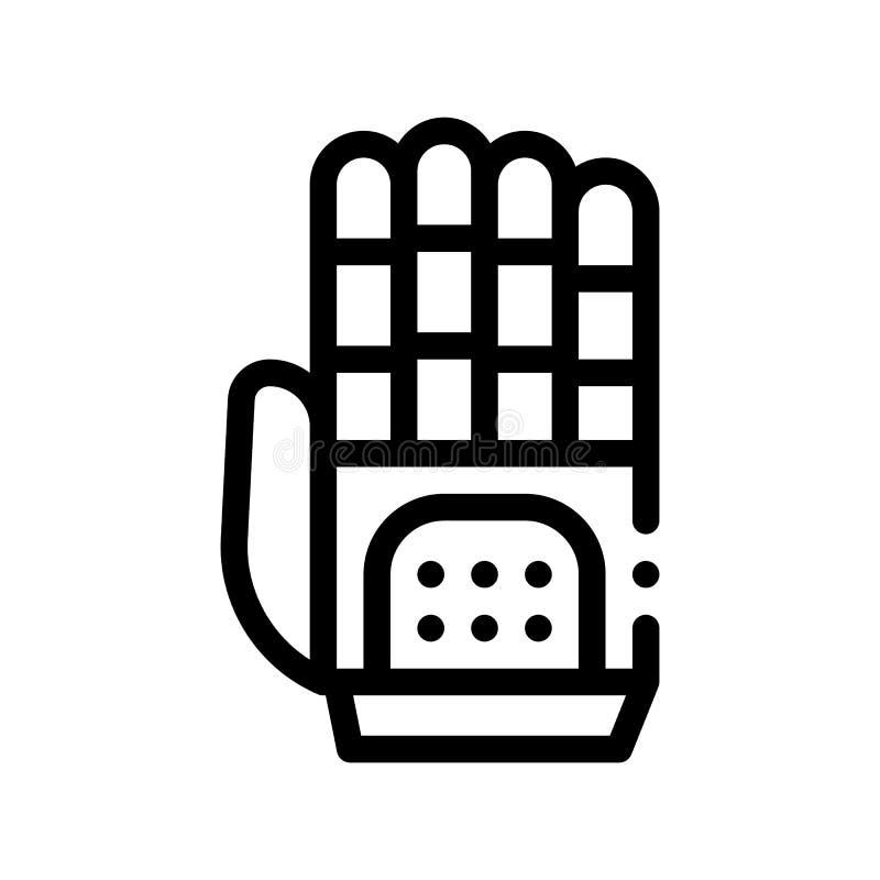 Icono cibernético del vector de la inteligencia artificial de la mano stock de ilustración