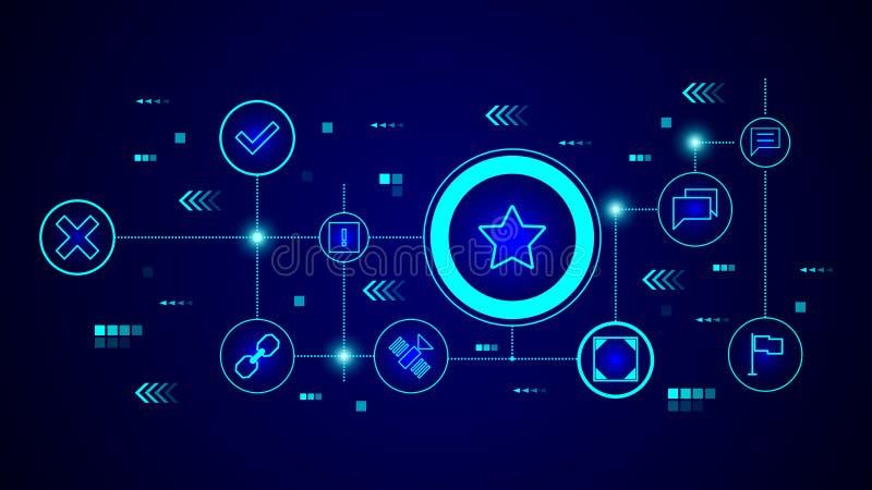 icono Cinco-acentuado de la estrella De sistema de la web libre illustration