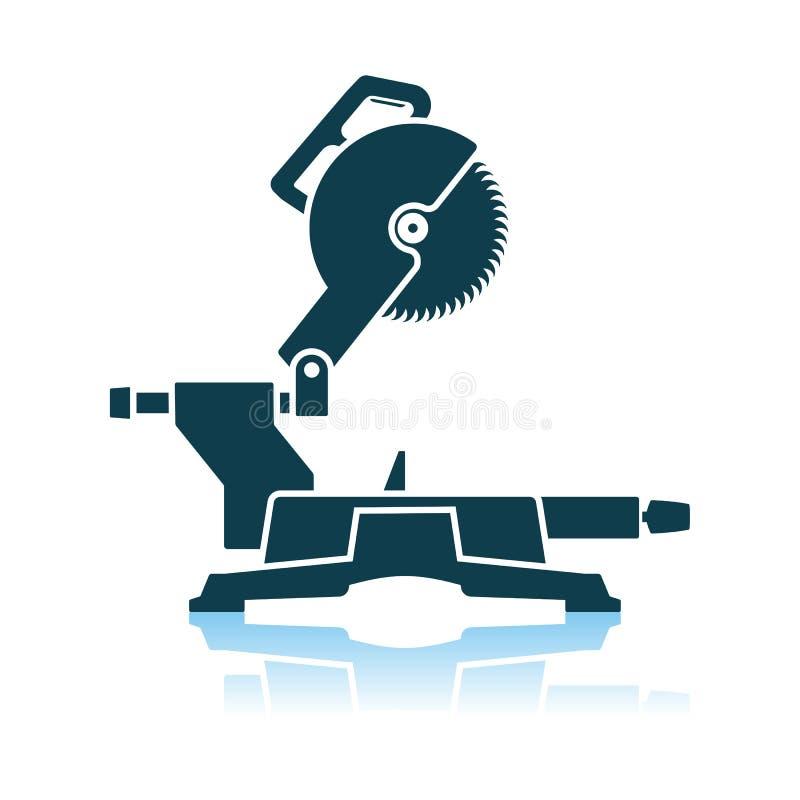 Icono circular de la sierra del extremo stock de ilustración