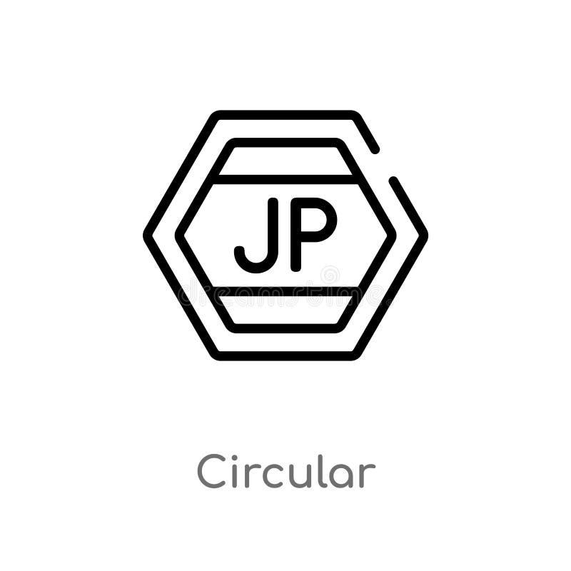 icono circular del vector del esquema línea simple negra aislada ejemplo del elemento del concepto de las muestras circular edita stock de ilustración