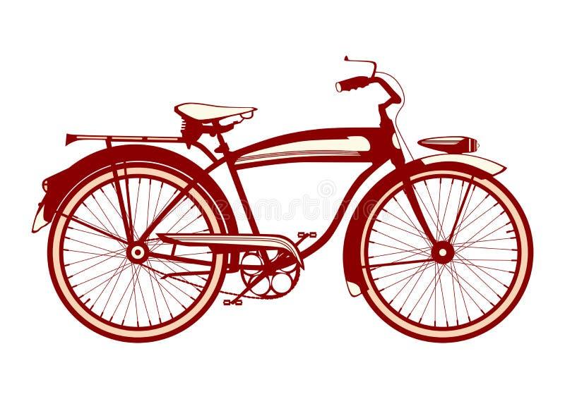 Icono clásico de la bici del vintage libre illustration