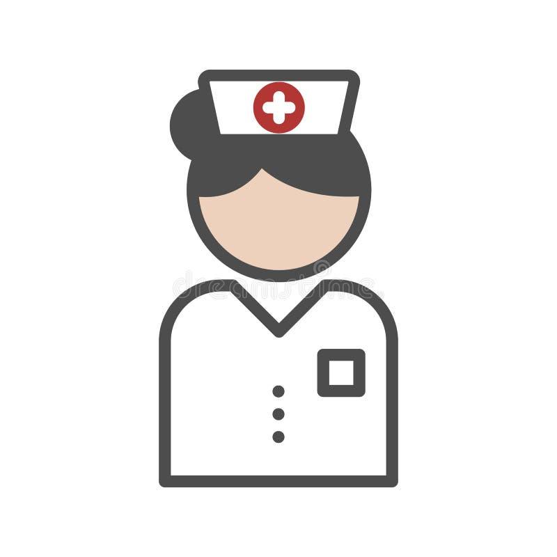 Icono clásico de la enfermera ilustración del vector
