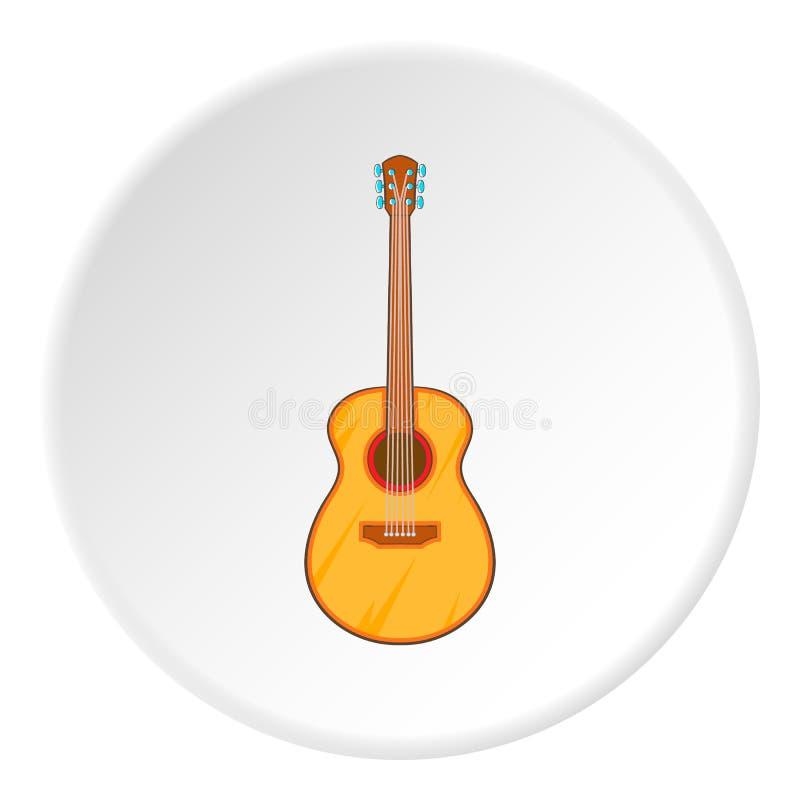 Icono clásico de la guitarra, estilo de la historieta ilustración del vector