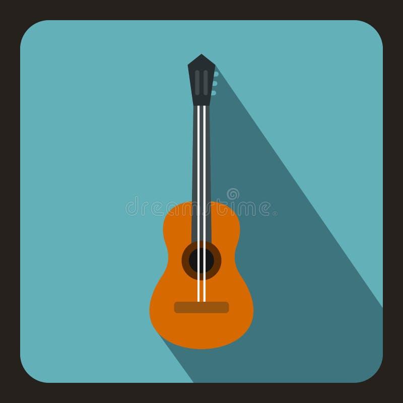 Icono clásico de la guitarra, estilo plano libre illustration