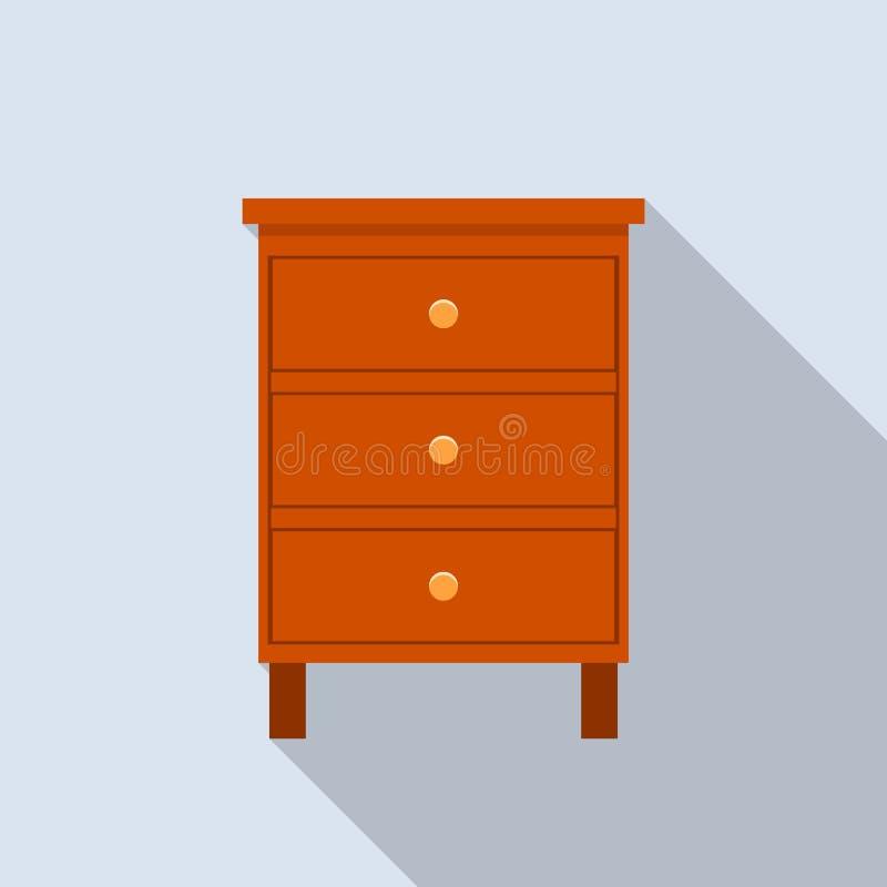 Icono clásico del cajón, estilo plano ilustración del vector