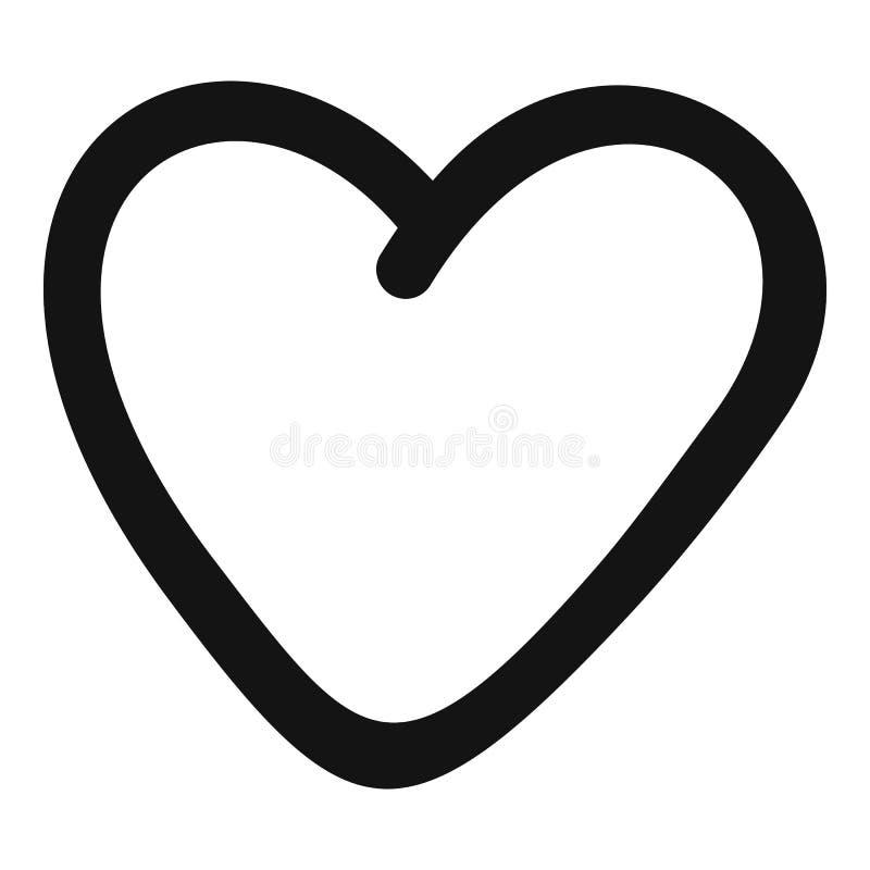 Icono codicioso del corazón, estilo simple libre illustration