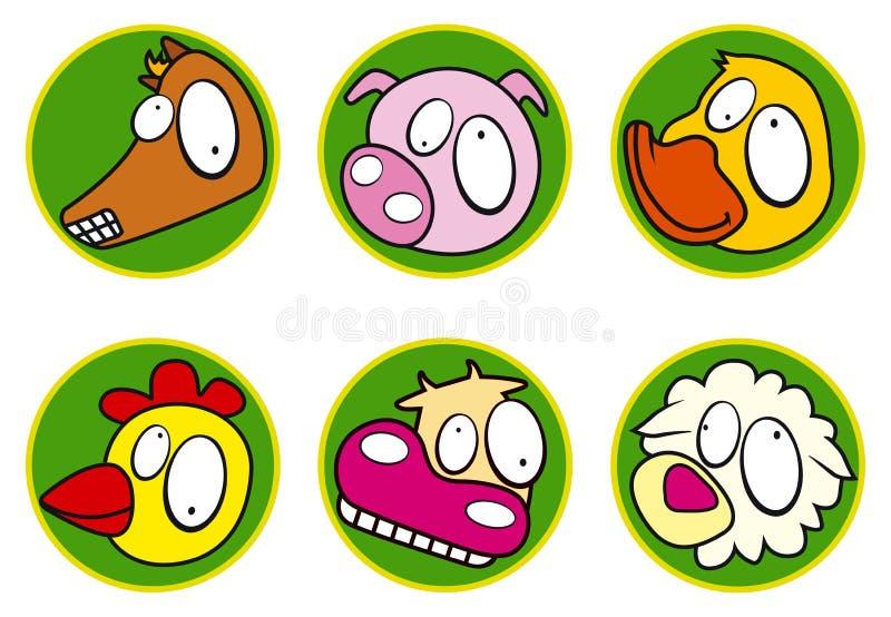 Icono - color determinado del icono de la granja stock de ilustración