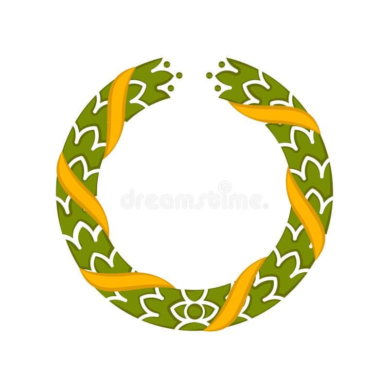 Icono coloreado aislado de la guirnalda del laurel - vector ilustración del vector