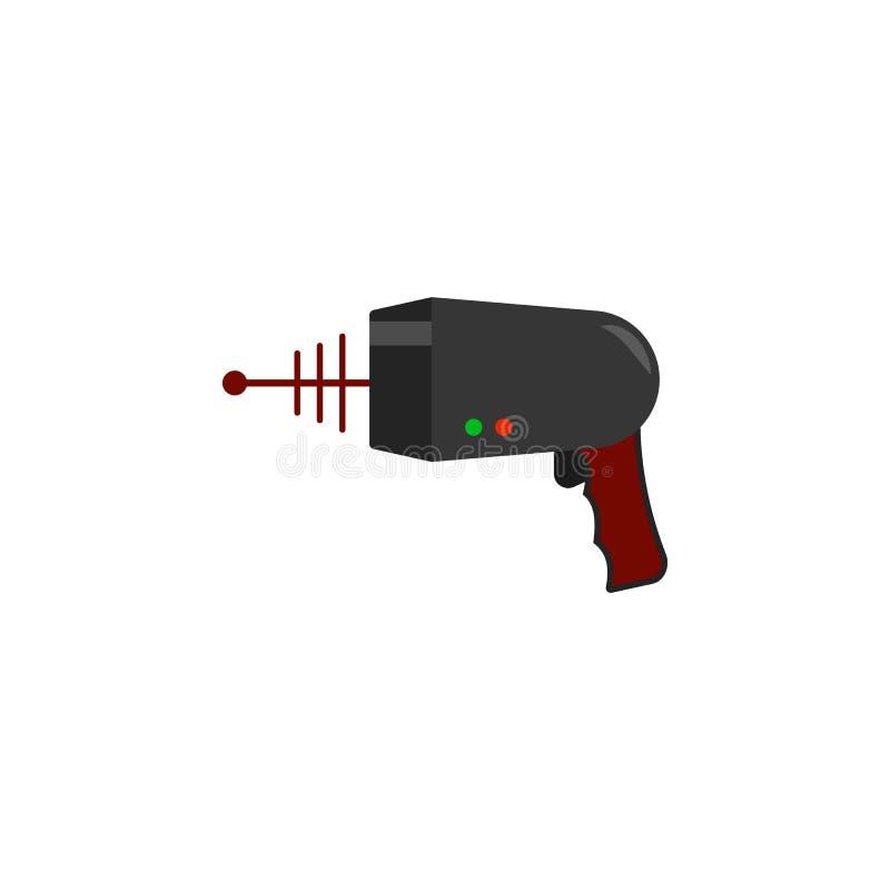 icono coloreado arenador del laser Elemento del icono del UFO para los apps móviles del concepto y del web El icono coloreado del libre illustration