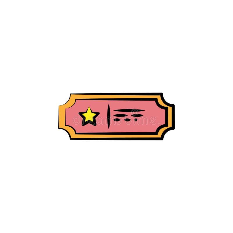 icono coloreado boleto del circo Elemento del icono coloreado del circo para los apps móviles del concepto y del web El icono del ilustración del vector