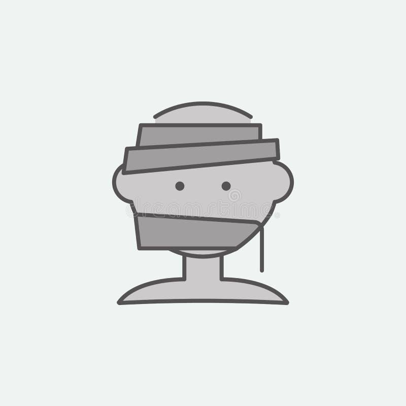 Icono coloreado cabeza de la momia de Halloween Uno de los iconos de la colección de Halloween para las páginas web, diseño web,  libre illustration