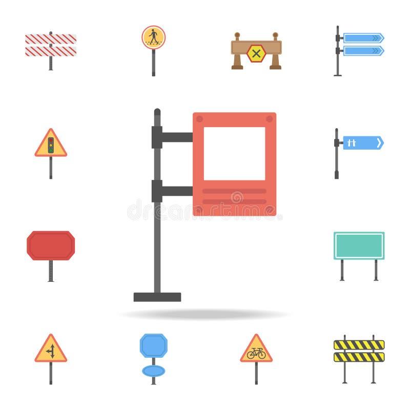 Icono coloreado cartelera de Digitaces Sistema detallado de iconos de la señal de tráfico del color Diseño gráfico superior Uno d stock de ilustración