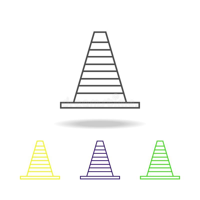 icono coloreado cono del camino Puede ser utilizado para la web, logotipo, app móvil, UI, UX ilustración del vector