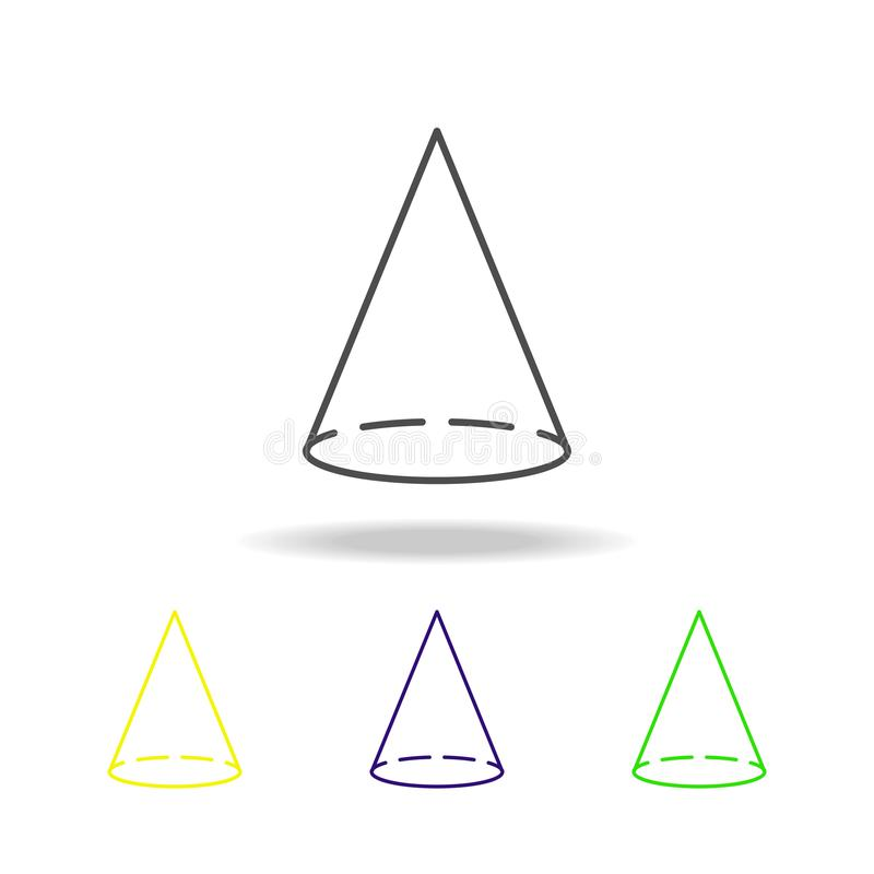 icono coloreado cono Puede ser utilizado para la web, logotipo, app móvil, UI, UX stock de ilustración