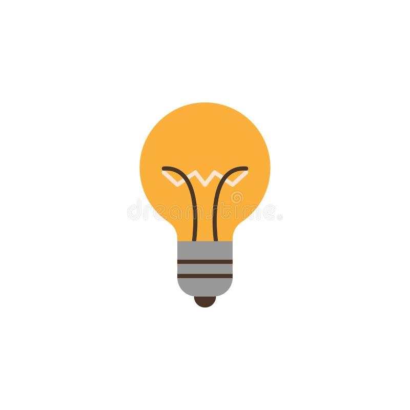 icono coloreado de la bombilla Elemento del icono del ejemplo de la educación Dise?o gr?fico de la calidad superior Muestras e ic foto de archivo libre de regalías