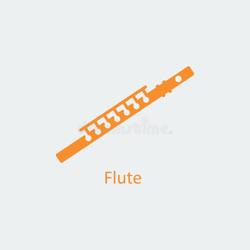 Icono coloreado de la flauta Icono del vector de la silueta libre illustration