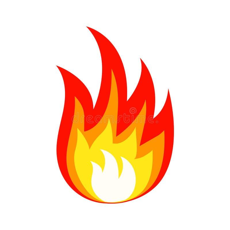Icono coloreado del fuego Ilustración del vector stock de ilustración
