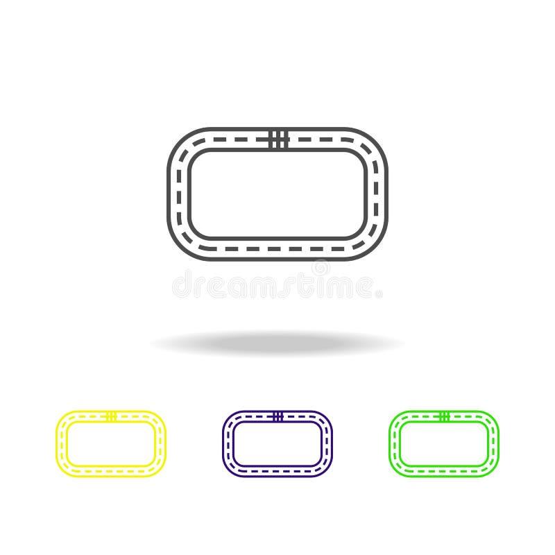 icono coloreado pista circular Puede ser utilizado para la web, logotipo, app móvil, UI, UX stock de ilustración